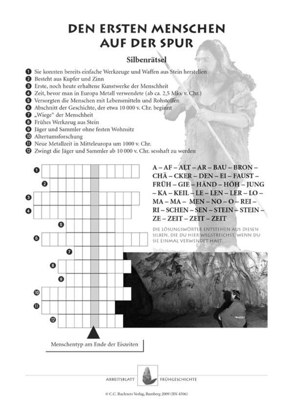Arbeitsblätter zur Frühgeschichte, Für die Sek I. Aus ...
