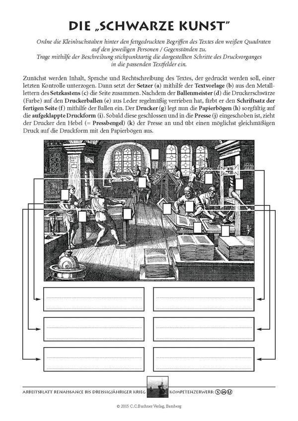 Renaissance bis Dreißigjähriger Krieg, Aus: Arbeitsblätter für den ...