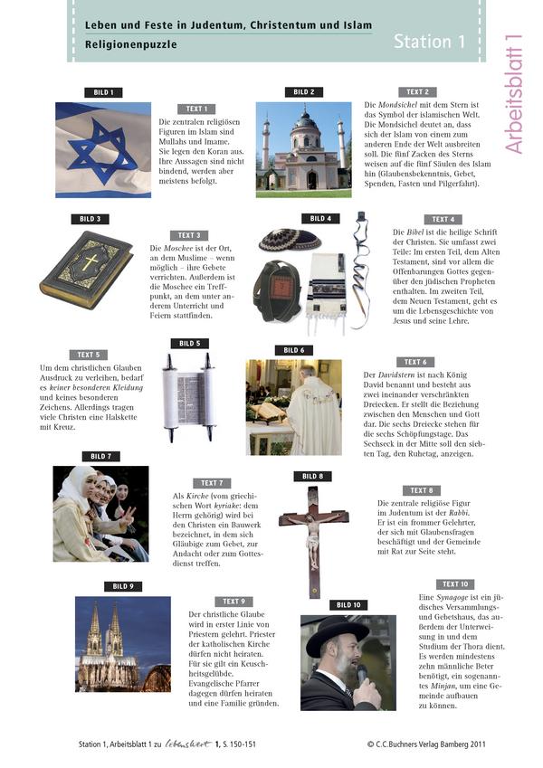 Arbeitsblätter inklusive Lösungen zu LebensWert 1 (Stationen 1-5 ...