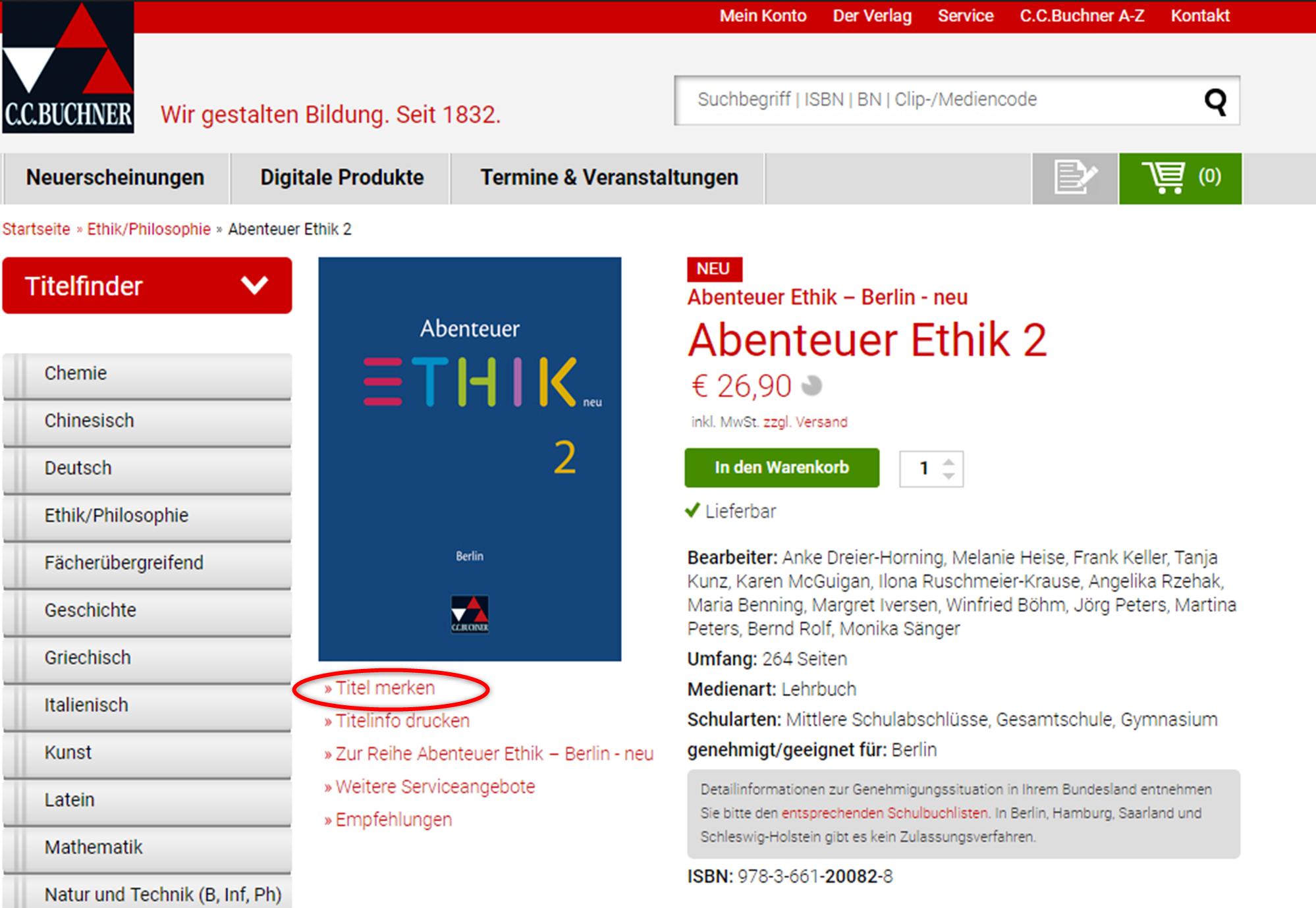 Buchner Schulbuchverlag
